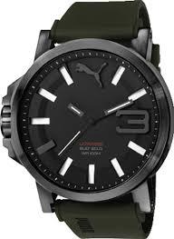 men s puma ultrasize green silicone watch pu103911002