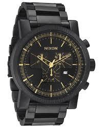 nixon the magnacon ss watch matte black gold v surfstitch matte black gold v mens accessories nixon watches a1541041a