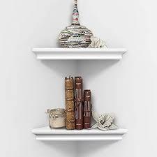 ahdecor white corner wall shelves wall