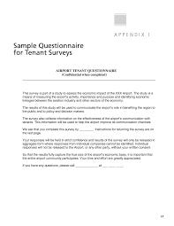 Sample Surveys Questionnaires Appendix I Sample Questionnaire For Tenant Surveys Guidebook For