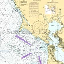 California Santa Rosa San Francisco Nautical Chart Decor