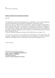 27 Cover Letter Sample Mechanical Engineer Sample Cover Letter Best