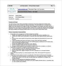 Data Analyst Job Duties Data Analyst Job Description Template 9 Free Word Pdf