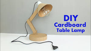 How To Make A Cardboard Table Lamp At Home Diy Table Lamp