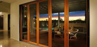 custom wood and glass patio doors