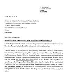 Resignation From Board Zimbabwe Tourism Leadership Gone And Chaos Follows