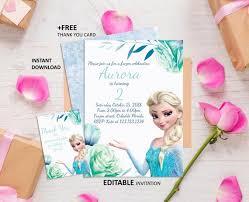 Frozen Birthday Invitations Frozen Invitation Frozen Birthday Invitation Frozen Party Printable Girl Invitation Elsa Invite Anna Invite Frozen Instant Download