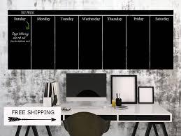 large wall calendar chalkboard wall decal blackboard calendar 2017 2018 office wall