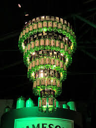 enjoyable diy recycled wine bottle cool chandeliers hanging on sloped ceiling as decorate retro style interior decors