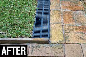 install drains in the garden after