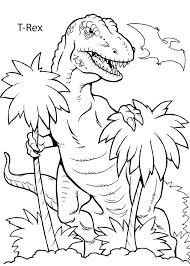 Kids Coloring Pages Printable Reliable Tyrannosaurus Coloring Page T