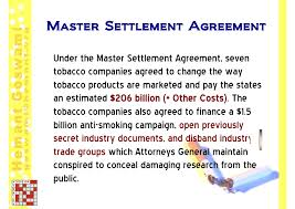 Master Settlement Agreement Stunning CourtCasesAgainstTobaccoIndustry