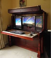 Amazing of Unique Computer Desk Ideas Charming Office Furniture Decor with  1000 Images About Computer Desk On Pinterest