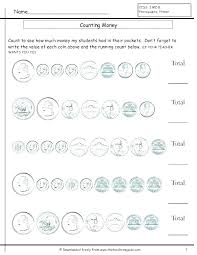 Money Identification Worksheets Counting And Identifying Coins ...