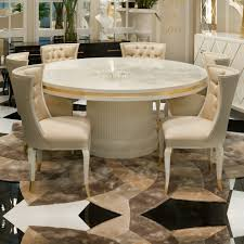high end dining room furniture. high end modern ivory lacquered round dining table room furniture