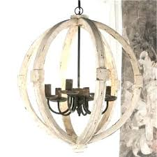 shabby chic ceiling light white washed wood chandelier crystal basket semi flush decor new in good shabby chic