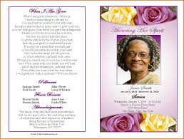 Memorial Program Templates Free 24 Funeral Program Template Free Authorizationlettersorg 6