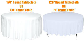 what size tablecloth for 60 inch round table what size overlay do you need here are