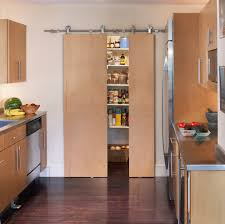 Barn Door In Kitchen Sliding Pantry Doors Kitchen Farmhouse With Barn Door Beadboard