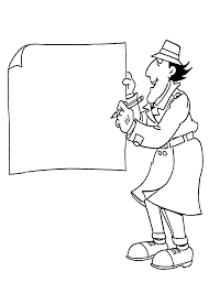 Inspector Gadget Coloring Pages For Kids Printable Free Inspector