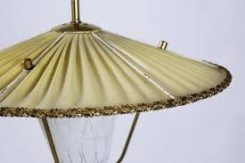 mid century brass and opaline glass lantern pendant light 1950s 3