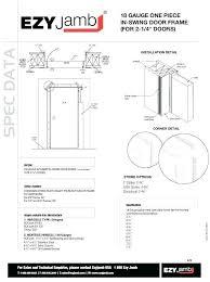 Interior Door Jambs Door Framing Kit Spec Data A Jamb Spec Data For