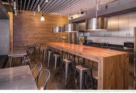 kitchen dazzling industrial residential kitchen featuring rectangle shape brown wooden laminated kitchen bench island and