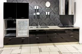 modern black kitchen