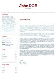 Simple Cover Letter Design For Resumes And Cvs Royalty Free Cliparts