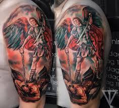 татуировка архангел михаил Artist Roman Vainer архангел