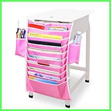 Pink Magazine Holder Amazon Hanging book storage and desk organizer 100 pocket 92