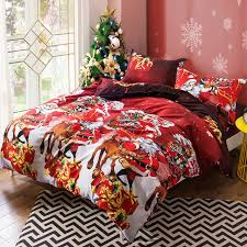 colorful bed sheets. New 3D Santa Claus Bedding Set Colorful Christmas Duvet Cover Sets Bed Sheets Pillowcases Queen Size S