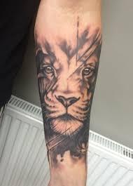 Abstractrealism Lion Tattoo Tatu черная татуировка татуировки