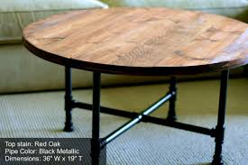 innovative round coffee table rustic with kitchen pleasant round