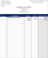 account statement templates download statement of account