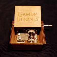 Engraved Wooden Music Box Game Of Thrones Xmas Gifts Game of Thrones Star Wars Harri Potter Merry Christmas 33