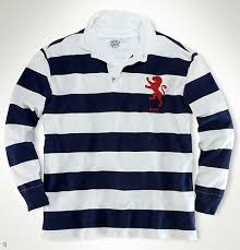 ralph lauren mens blue white polo richardclason custom fit striped rugby