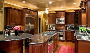 best kitchen cabinets ideas in wooden themed kitchen made of cherry wood with unique face