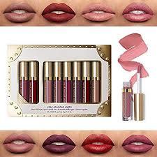 <b>8pcs</b>/<b>set Matte Shimmer Liquid</b> Lipstick Waterproof Long Lasting Lip ...