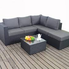 small corner furniture. port royal prestige black u0026 charcoal small corner sofa rattan garden furniture set u2013 right t