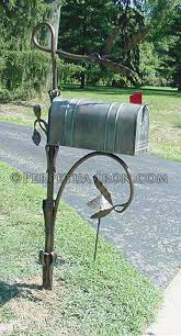 mailbox posts metal. Forged Willow Post Mailbox Posts Metal A