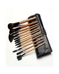 makeup brush set with bag 12pcs multicolour