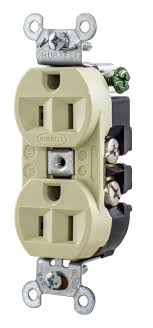 hubbell 5262i duplex receptacle 3 wire grounding 15a 125v hubbell 5262i duplex receptacle 3 wire grounding 15a 125v finder groove face ivory