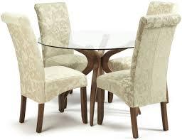 detroit walnut round dining set with 2 courtland cream fl and 2 sage fl chairs