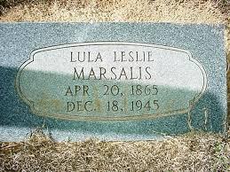 Lula Leslie Marsalis (1865-1945) - Find A Grave Memorial