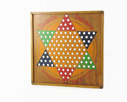 Wooden Games Room Vintage Chinese Checkers Wooden Game Board Game Room Decor 89