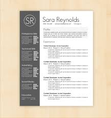 design resume template resume template sara reynolds