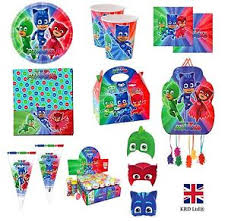 Pj Mask Party Decorations Disney's PJ MASKS Superhero Children's Kids Birthday Party 57