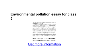 environmental pollution essay for class google docs
