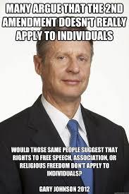 Gary Johnson Gun rights memes | quickmeme via Relatably.com